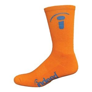 Super Soft Performance Cotton Crew Sock w/Knit-In Logo