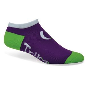 Import Moisture Wicking Full Cushion No Show Socks w/Knit-In Logo