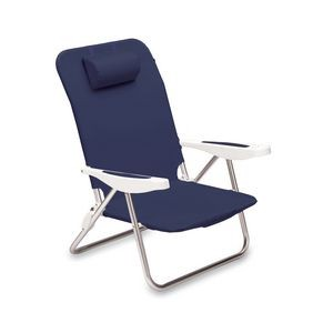 Monaco Beach Chair with 6 Reclining Positions & Backpack Straps