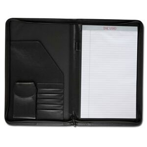 Deluxe Black Legal Size Zip Around Portfolio